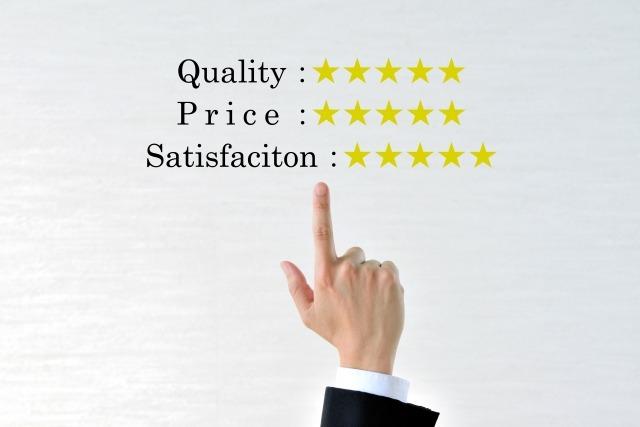 満足度と口コミ評価のイメージ画像